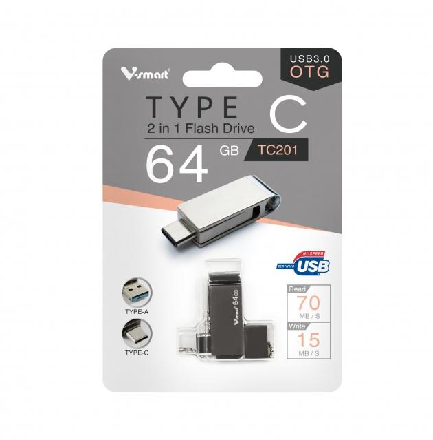 Type C 高速雙用OTG隨身碟 64GB 鐵灰 6